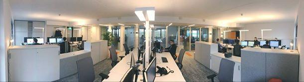 Panoramic office view